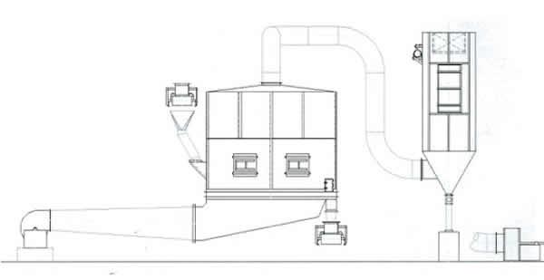 Continuous Fluid-Bed Diagram