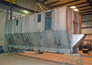 Production Scale Combination Baghouse/Fluid Bed